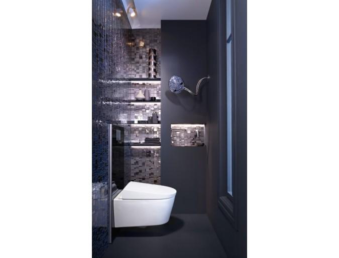 Dusch-WC im kleinen Bad - unauffällig integriert