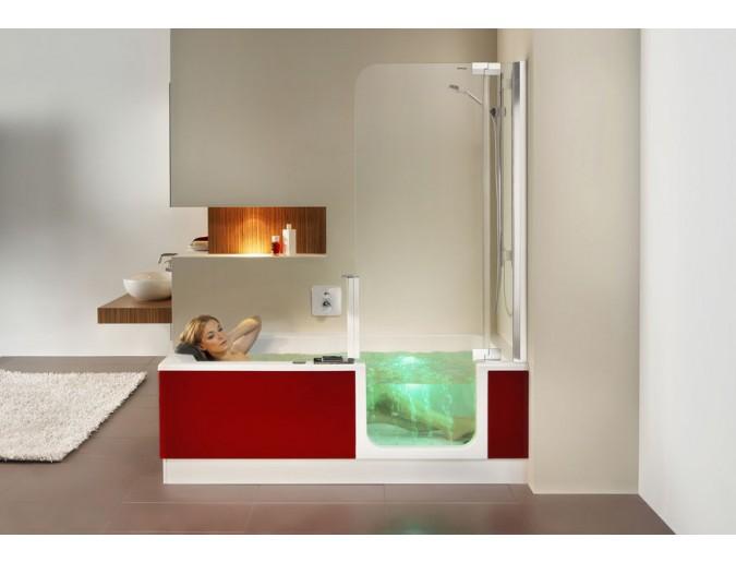 Licht und Massage in der raumsparbadewanne - das ist Wellness!